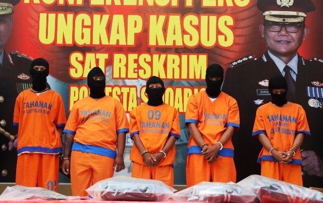 Lima Pelaku Penusukan Pemuda di By Pass Juanda Dibekuk Polisi