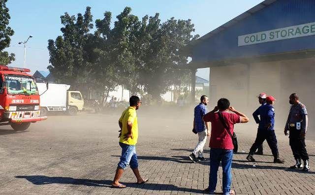 Motor Fan Terbakar, Gudang Puspa Agro Kepulkan Asap